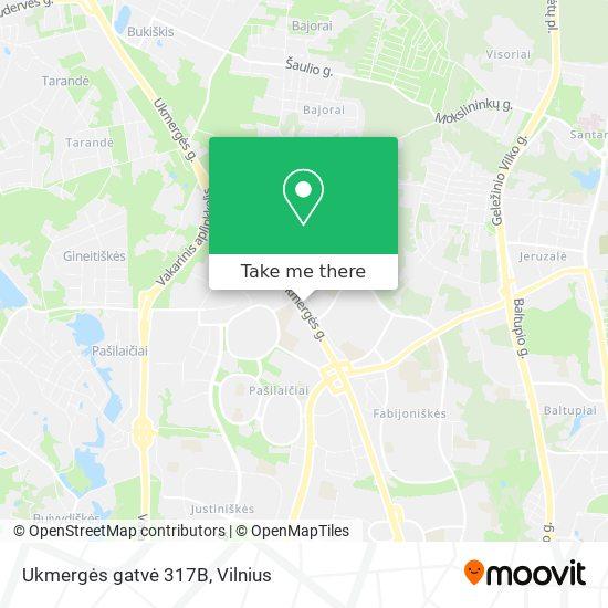 Ukmergės gatvė 317B map