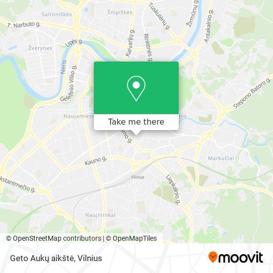 Geto Aukų aikštė map