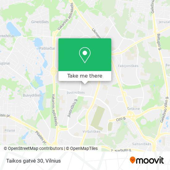 Taikos gatvė 30 map