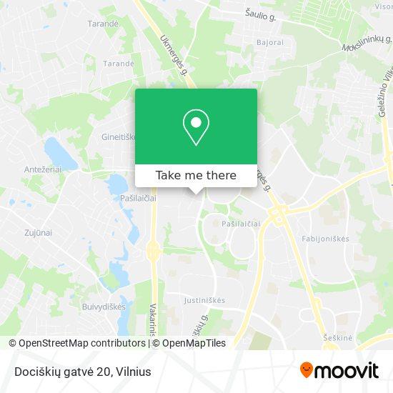 Dociškių gatvė 20 map