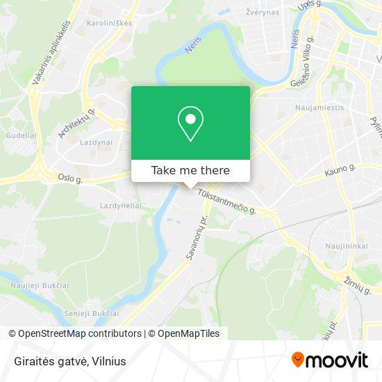 Giraitės gatvė map