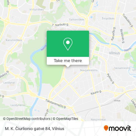 M. K. Čiurlionio gatvė 84 map