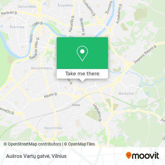 Aušros Vartų gatvė map