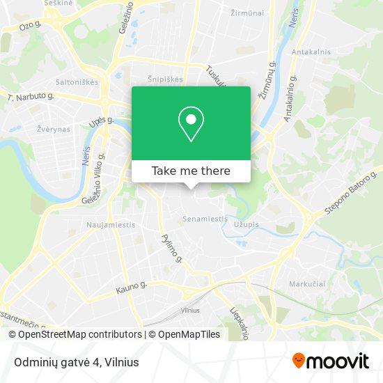 Odminių gatvė 4 map