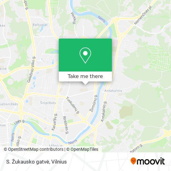 S. Žukausko gatvė map