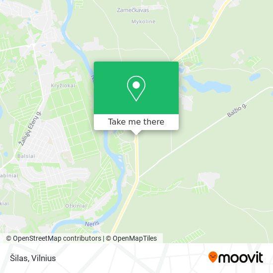 Šilas map