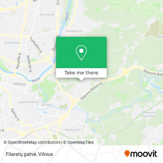 Filaretų gatvė map