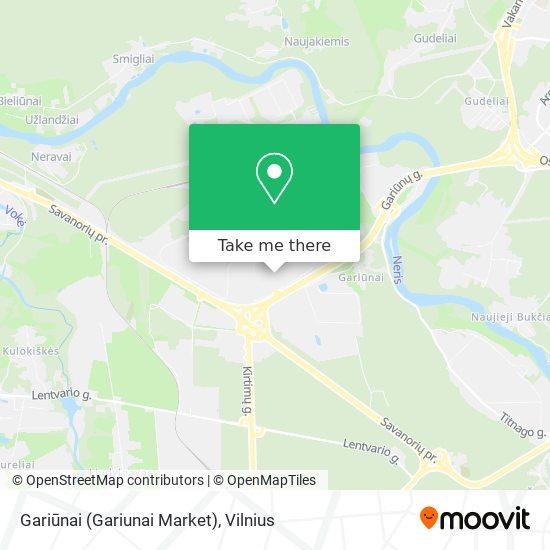 Gariūnai (Gariunai Market) map