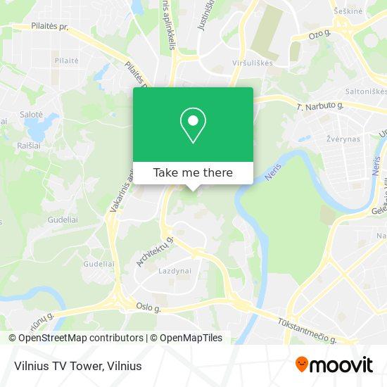 Vilnius TV Tower map