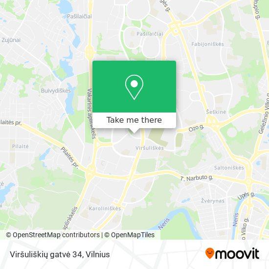 Viršuliškių gatvė 34 map