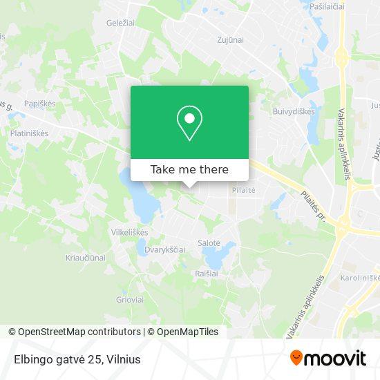 Elbingo gatvė 25 map