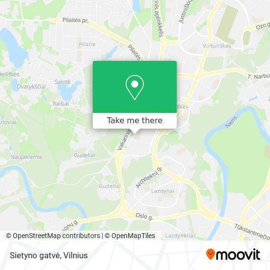 Sietyno gatvė map