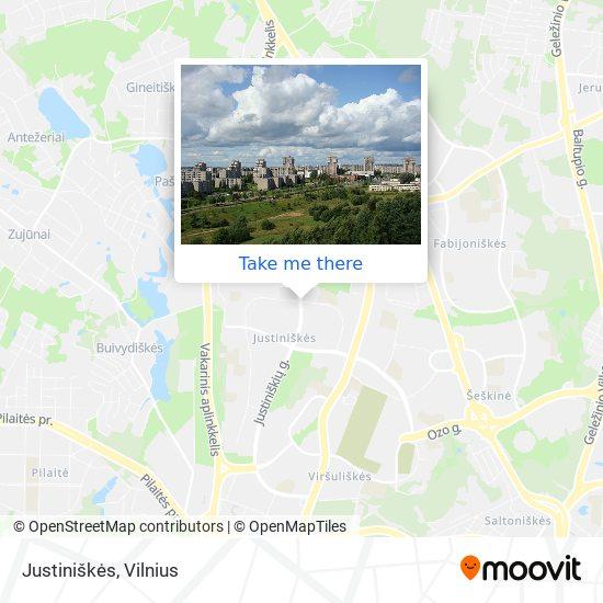 Justiniškės map