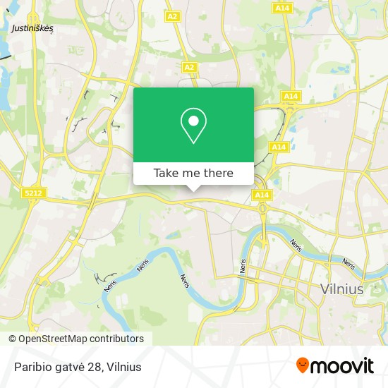 Paribio gatvė 28 map