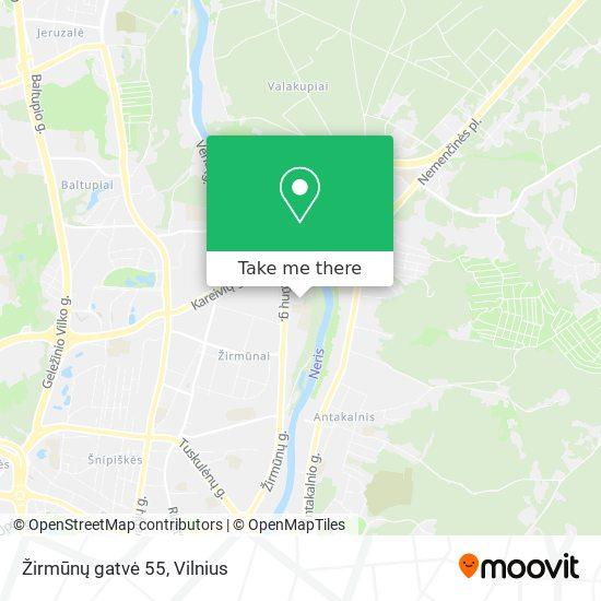 Žirmūnų gatvė 55 map