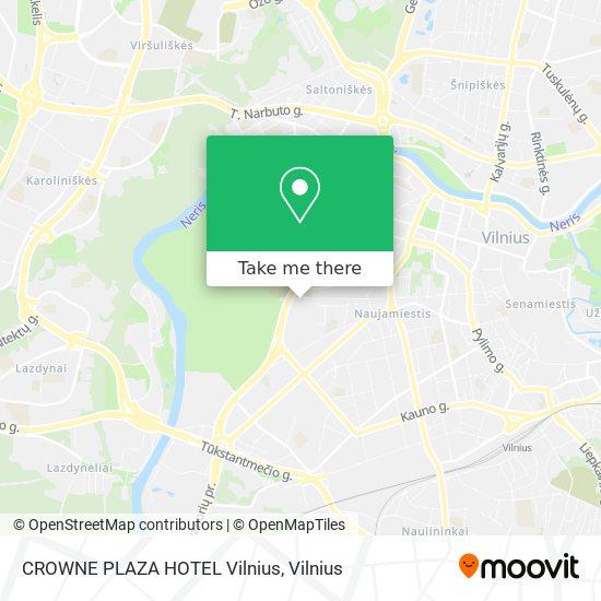 CROWNE PLAZA HOTEL Vilnius map