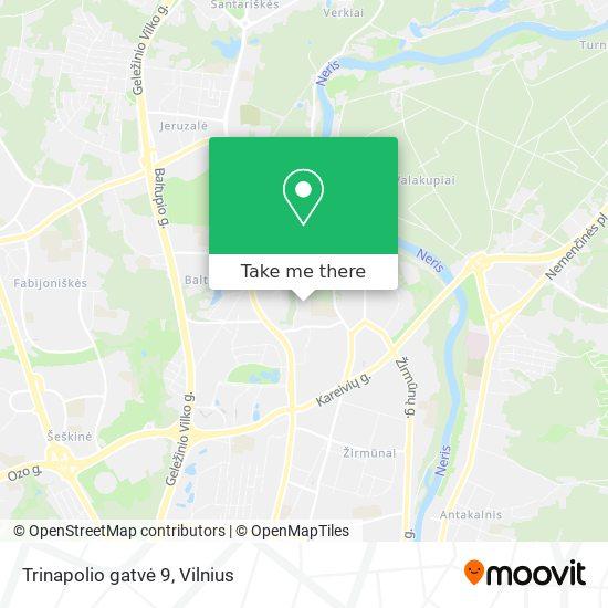 Trinapolio gatvė 9 map