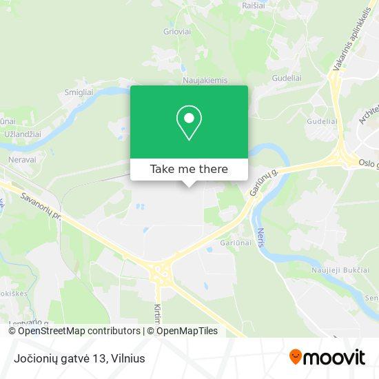 Jočionių gatvė 13 map