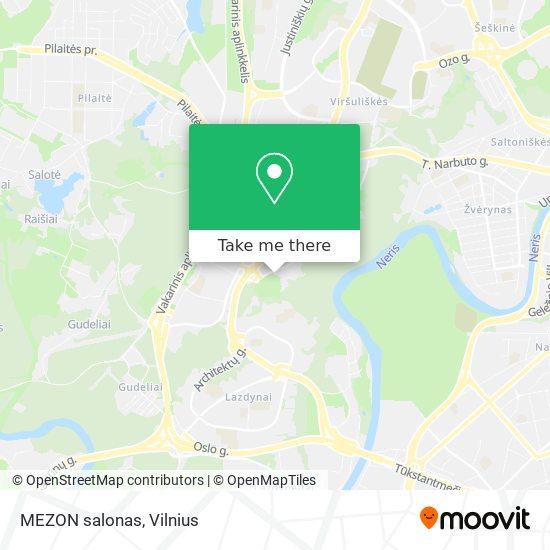 MEZON salonas map