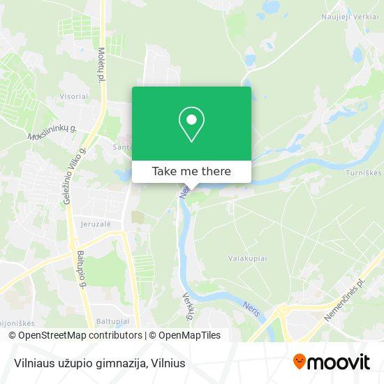 Vilniaus užupio gimnazija map