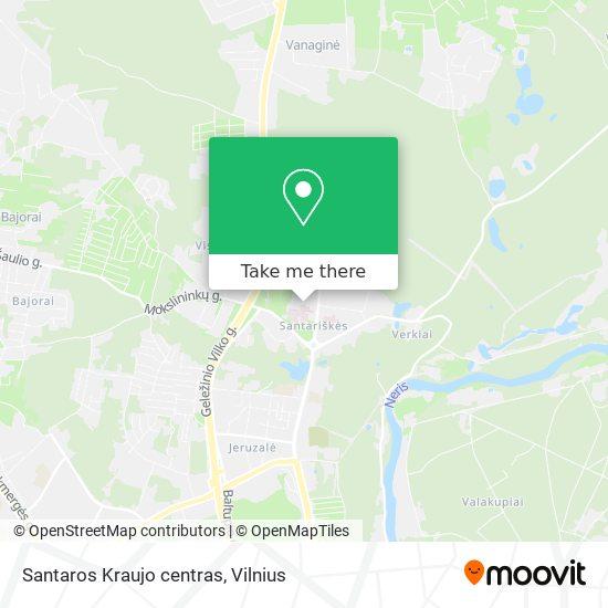 Santaros Kraujo centras map
