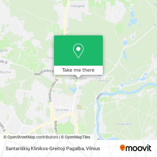 Santariškių Klinikos-Greitoji Pagalba map