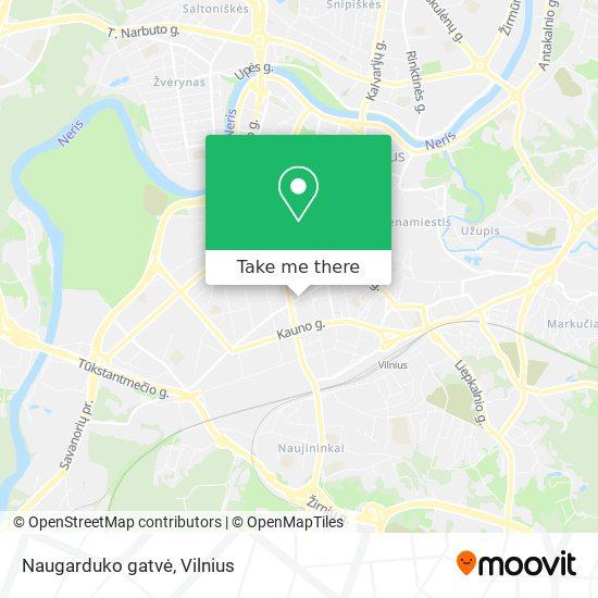 Naugarduko gatvė map