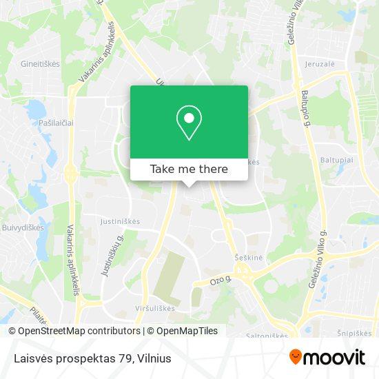 Laisvės prospektas 79 map