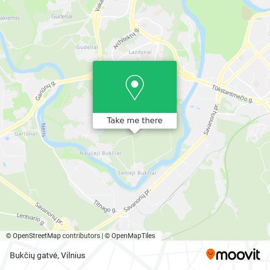 Bukčių gatvė map
