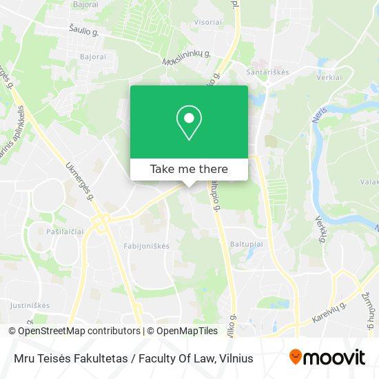 Mru Teisės Fakultetas / Faculty Of Law map