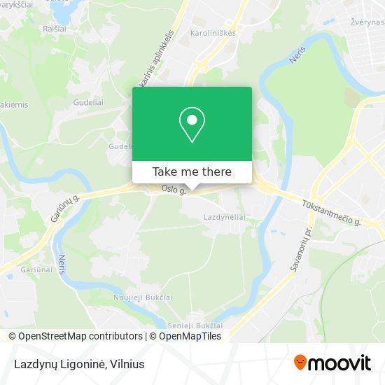 Lazdynų Ligoninė map