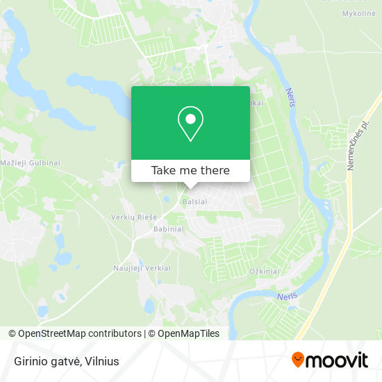 Girinio gatvė map