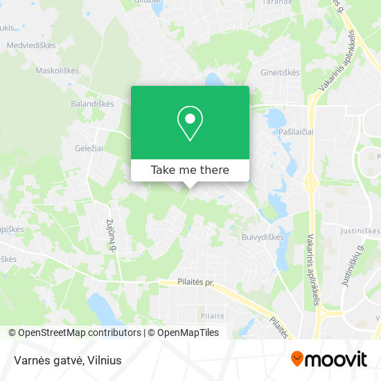 Varnės gatvė map
