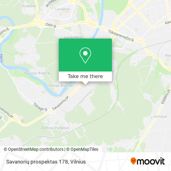 Savanorių prospektas 178 map