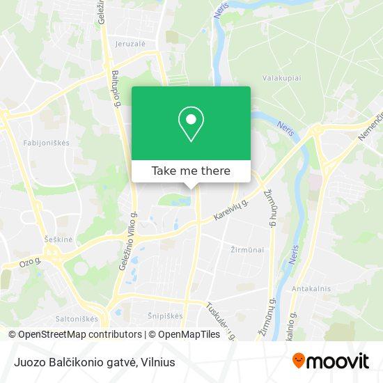 Juozo Balčikonio gatvė map