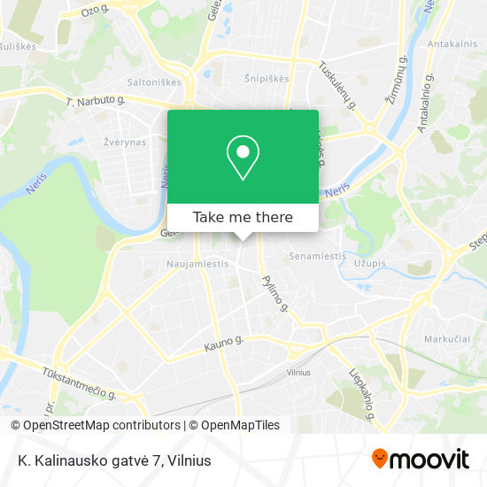 K. Kalinausko gatvė 7 map