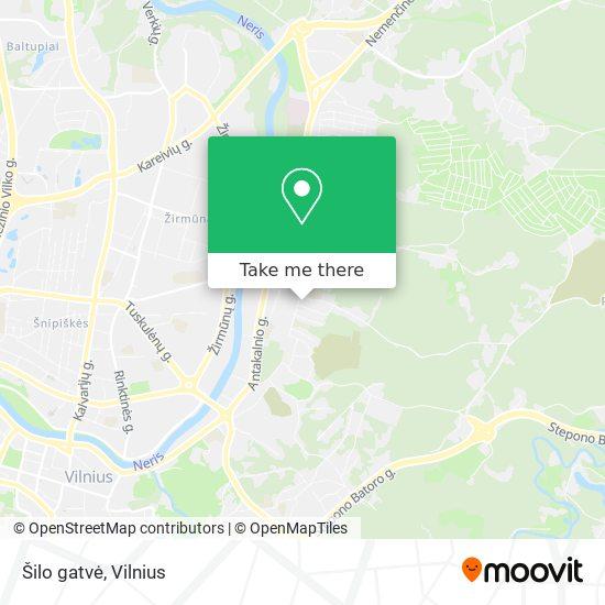 Šilo gatvė map