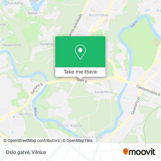 Oslo gatvė map
