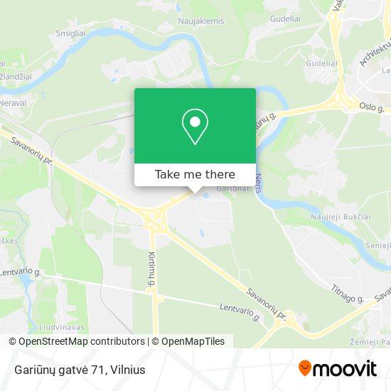 Gariūnų gatvė 71 map