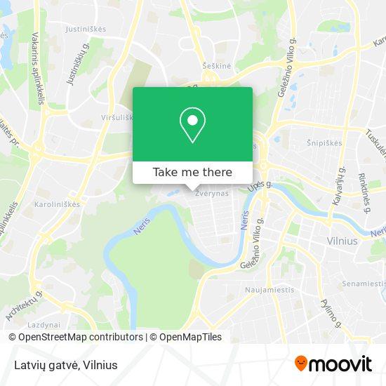 Latvių gatvė map