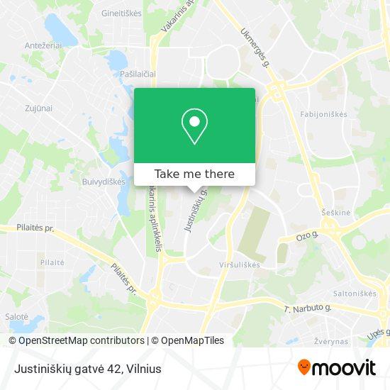 Justiniškių gatvė 42 map