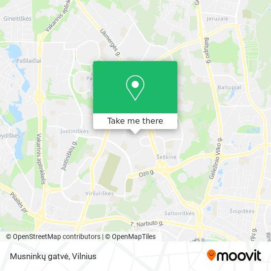 Musninkų gatvė map