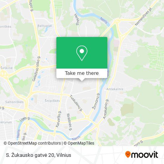 S. Žukausko gatvė 20 map