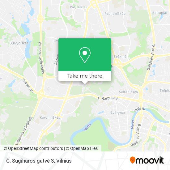 Č. Sugiharos gatvė 3 map