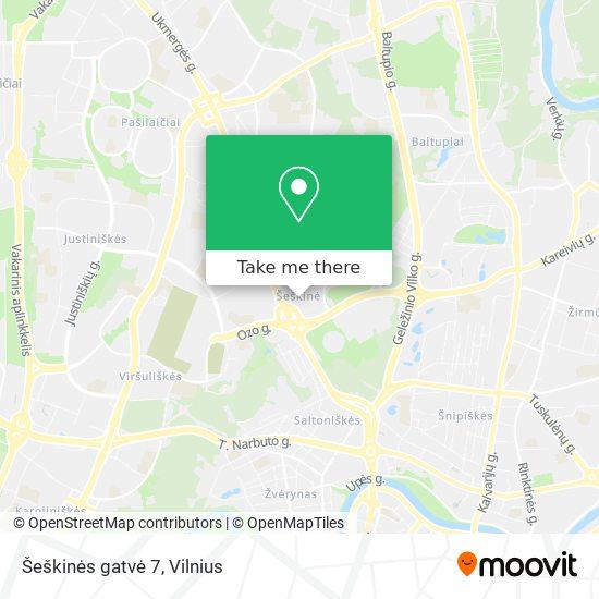 Šeškinės gatvė 7 map