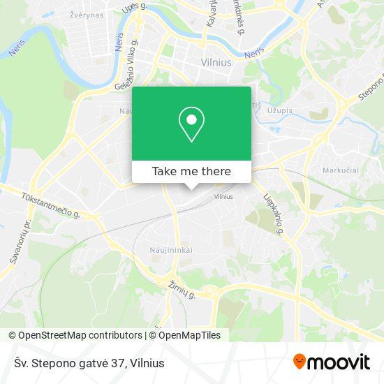 Šv. Stepono gatvė 37 map