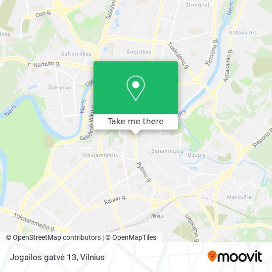 Jogailos gatvė 13 map