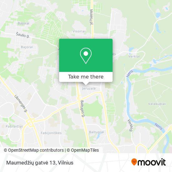 Maumedžių gatvė 13 map