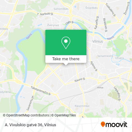 A. Vivulskio gatvė 36 map
