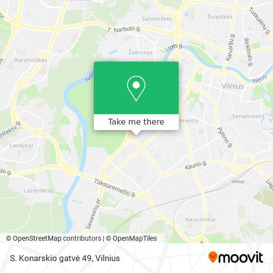 S. Konarskio gatvė 49 map